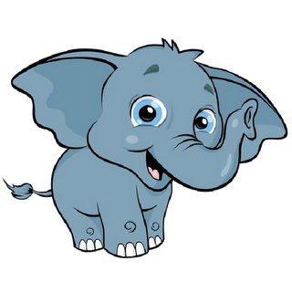 Cute elephant baby elephant clipart outline free clipart.
