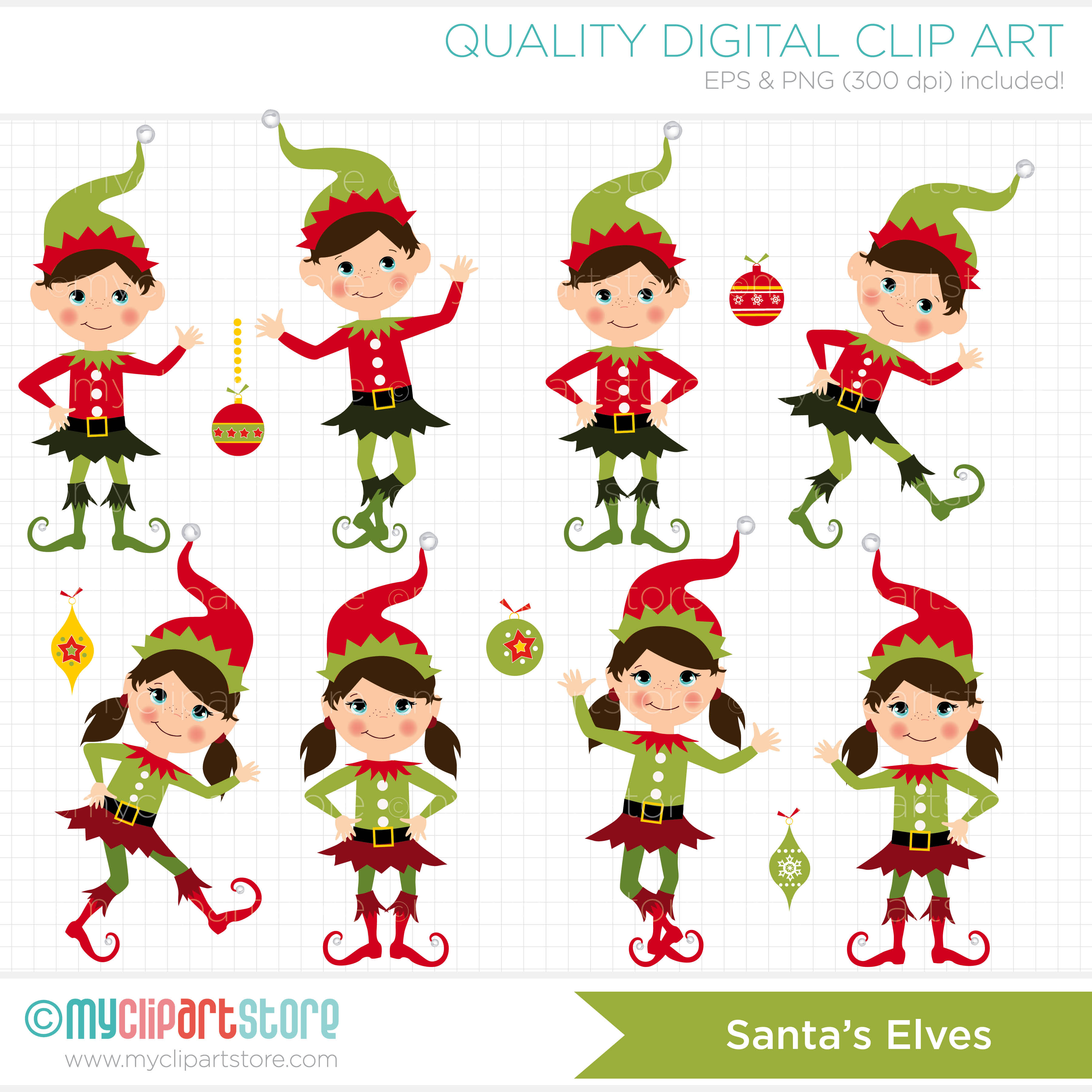 Free Clipart Elves.