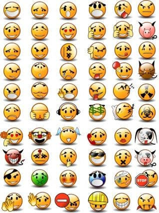 Emotion Faces Clip Art.