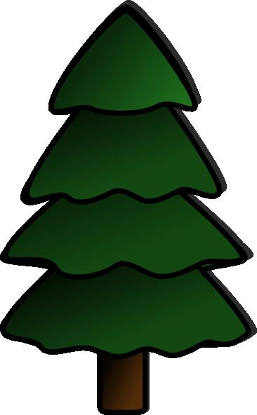 255 Evergreen Tree free clipart.