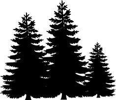 evergreen tree stencil.