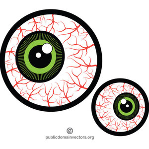 610 eyes free clipart.