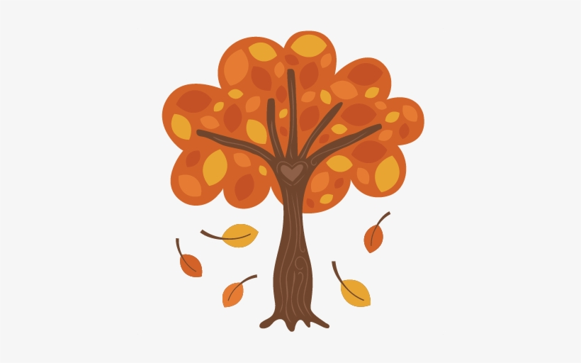 Royalty Free Library Autumn Tree Svg Scrapbook Cut.