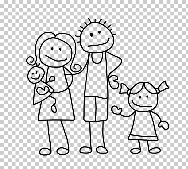 Stick figure Drawing Family , Family, family illustration.