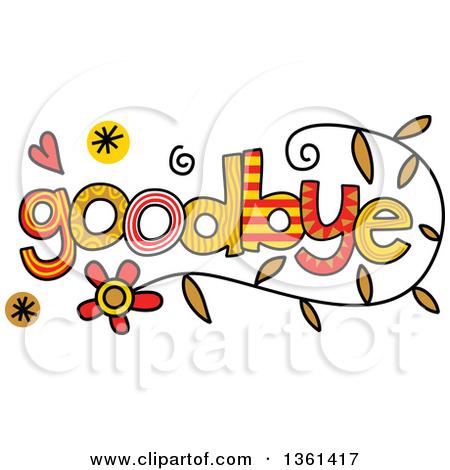 Clipart Goodbye Farewell.