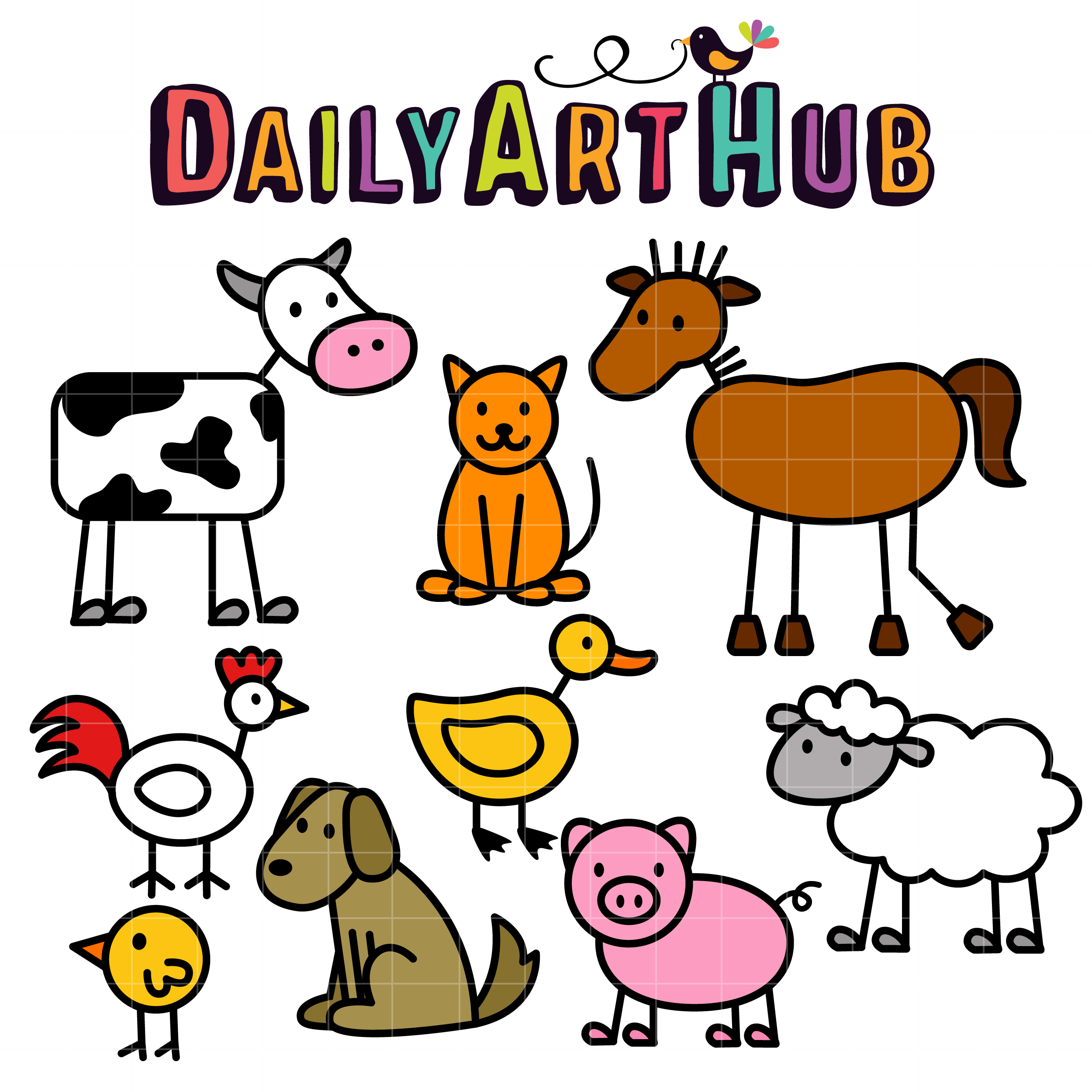 Free Farm Animal Clipart at GetDrawings.com.