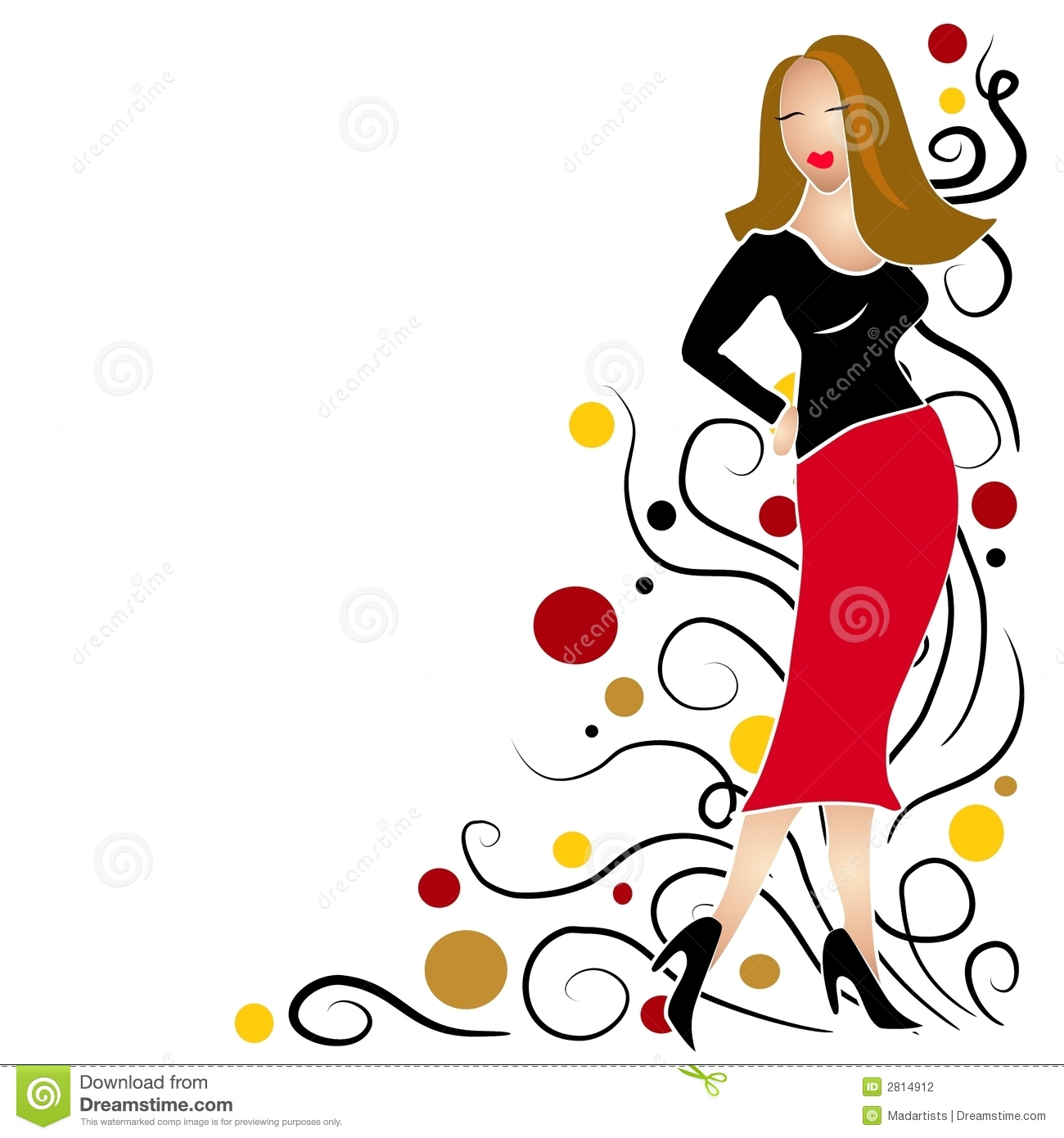 Fashion Models Clipart #1.