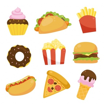 Fast food logo collection Vector.