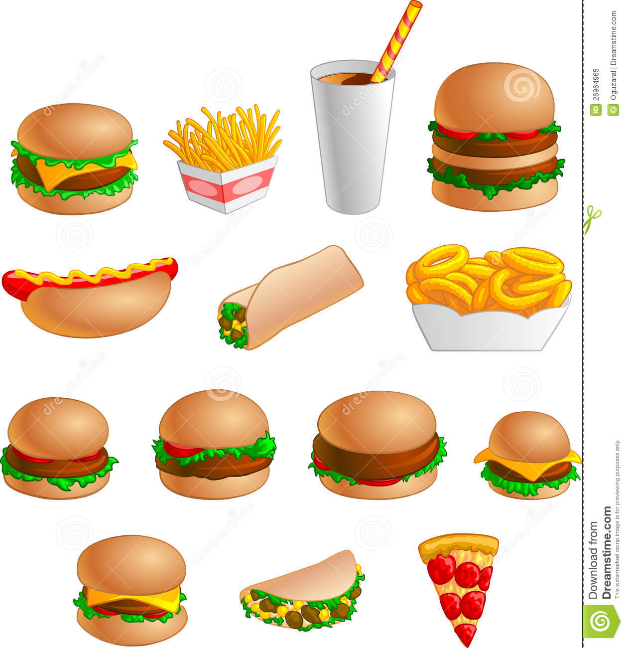 Free Fast Food Clipart.