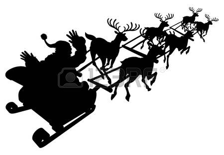 1,568 Father Christmas Sleigh Cliparts, Stock Vector And Royalty.