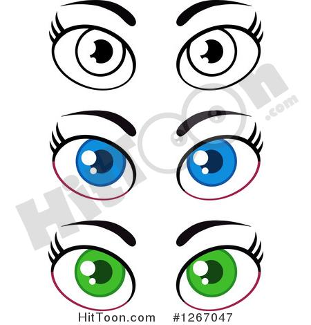 Female Eyes Clipart #1.
