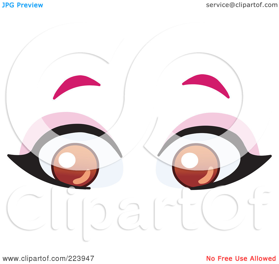 Female Brown Eyes Clipart.