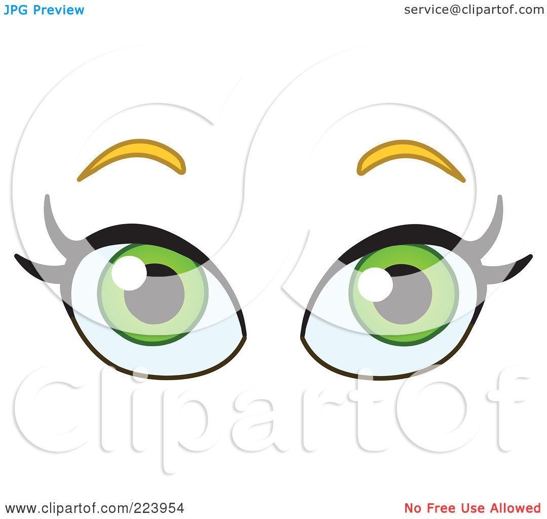 Green Eyes Clipart#1986332.