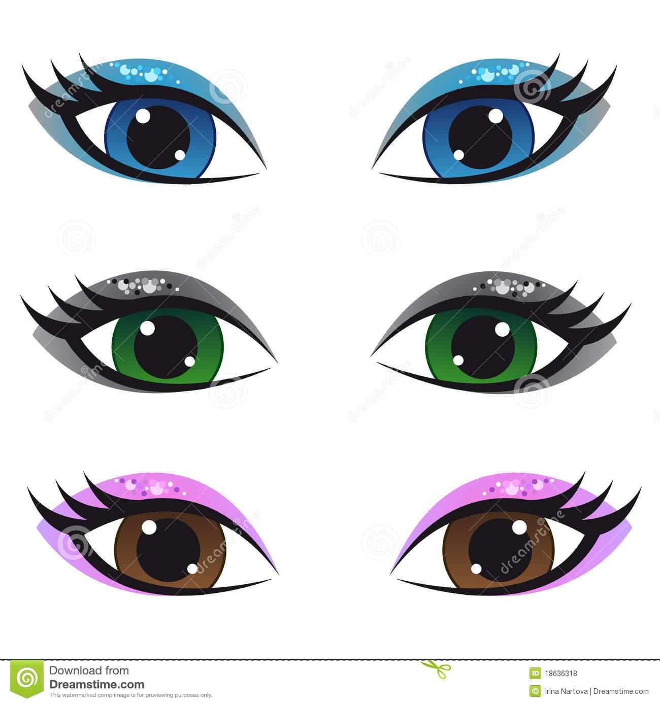 Woman Eyes Clipart.