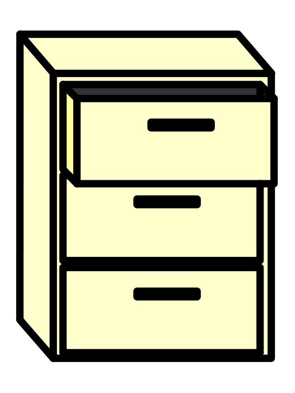 Free Clipart: Filing Cabinet.