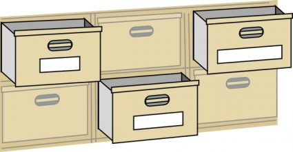 Furniture File Cabinet Drawers clip art free vector.