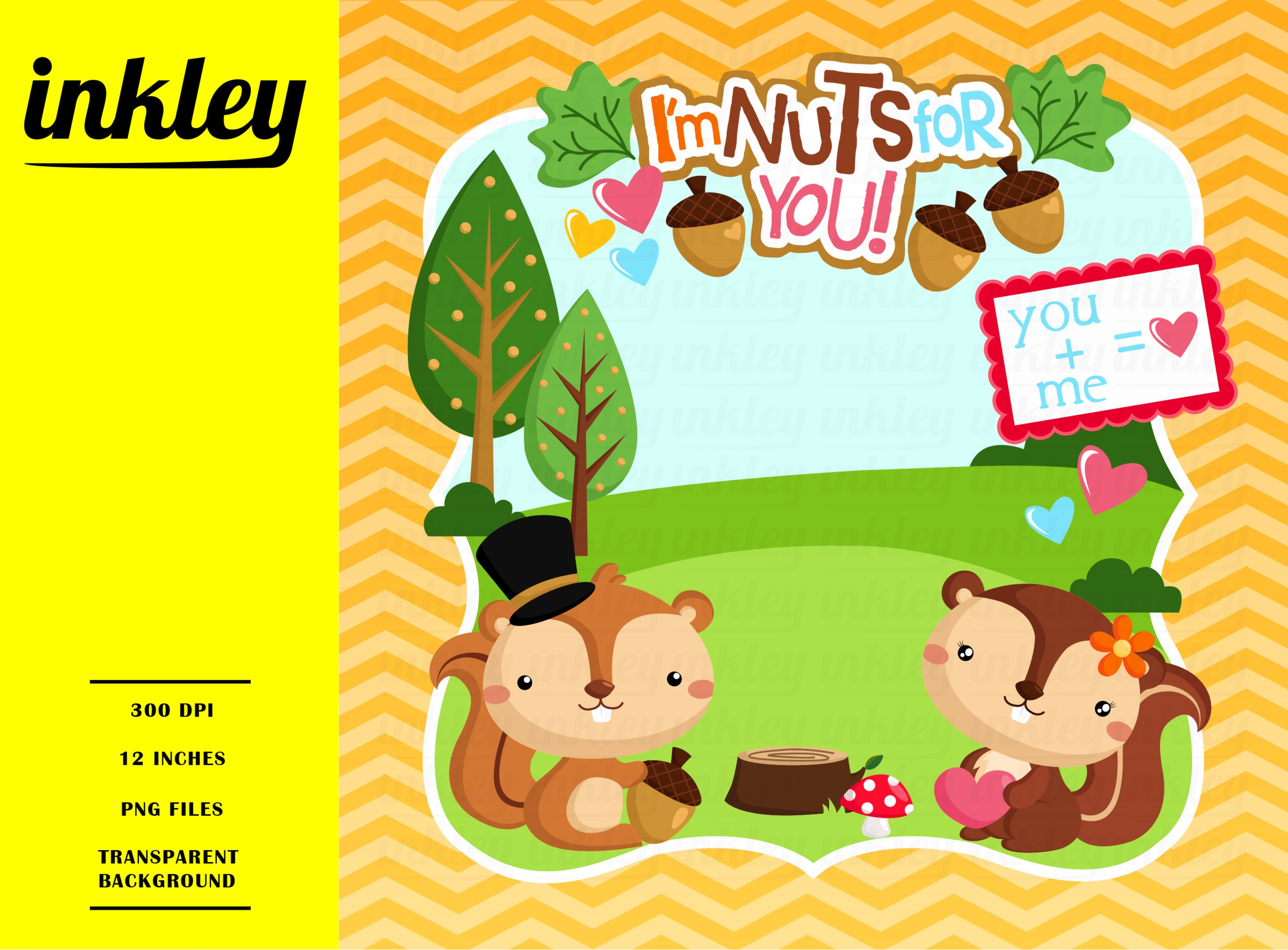 I\'m Nuts For You Illustration.