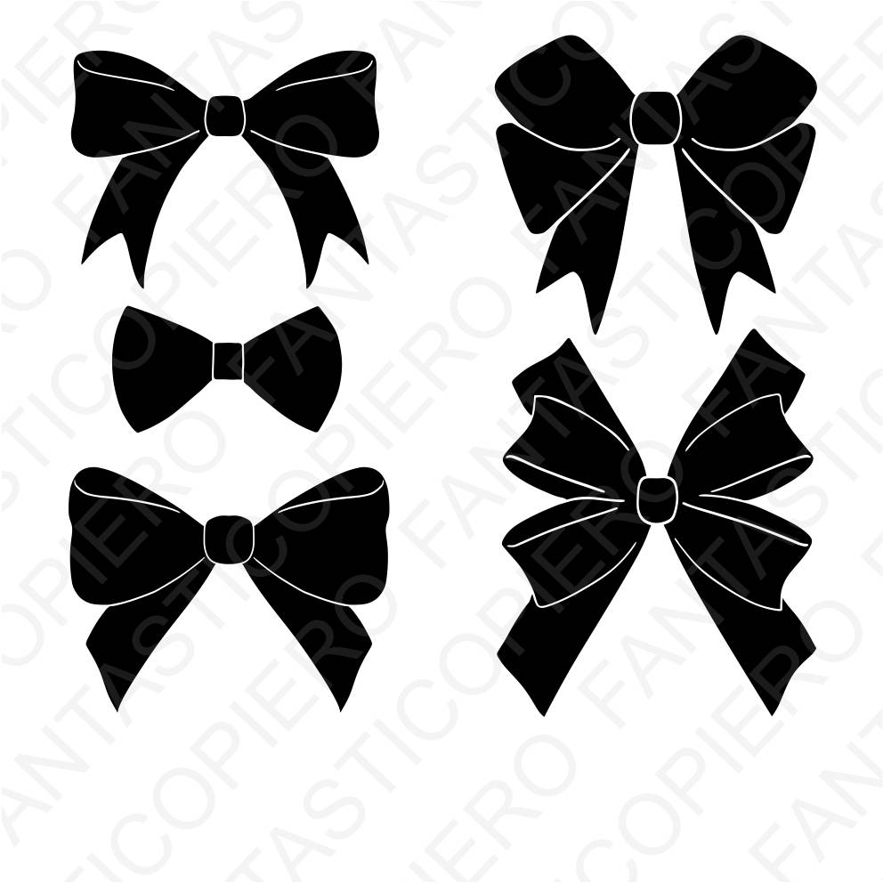 Download Free png Bows SVG files for Silhouette Cameo and.
