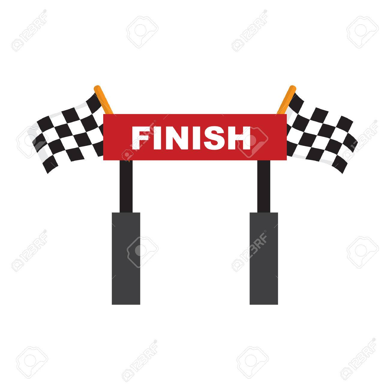 finish line.