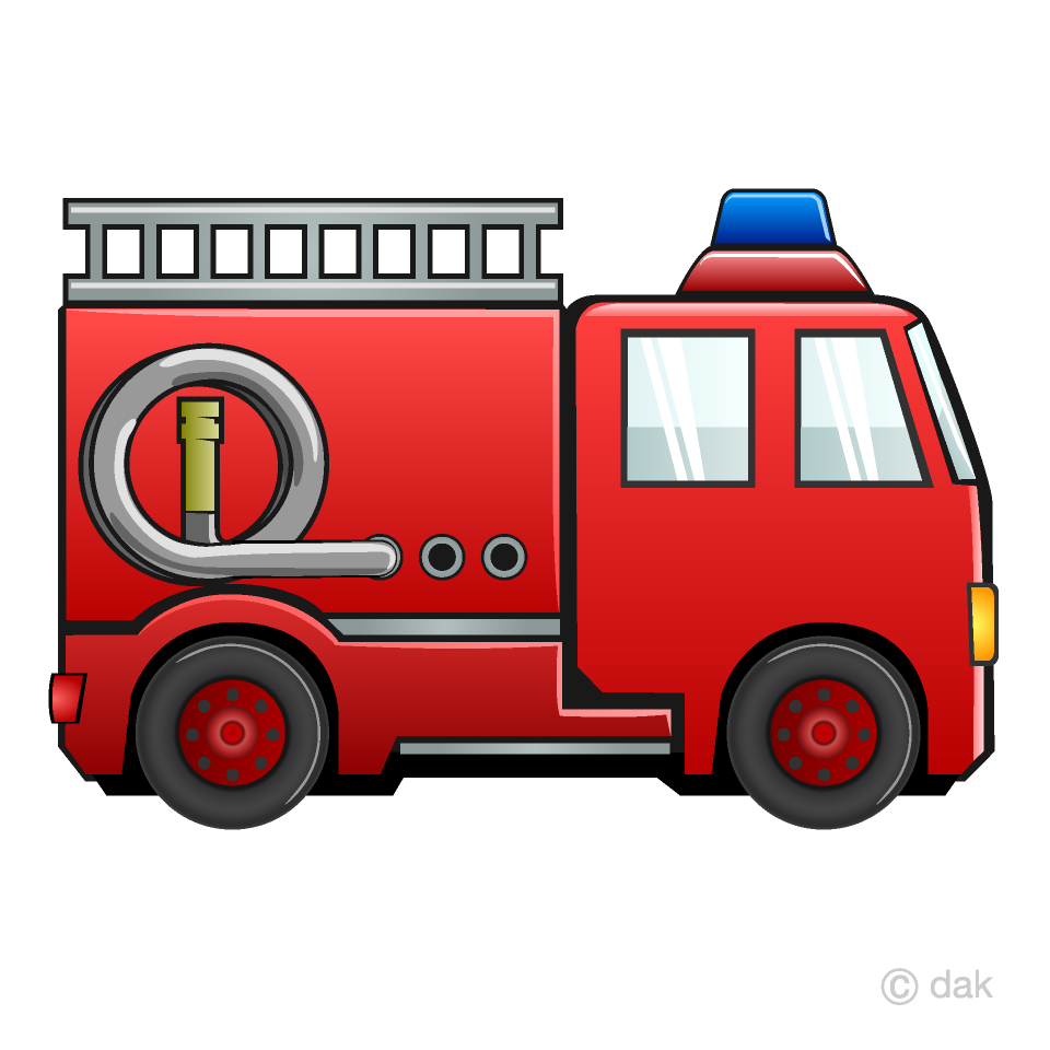 Fire Engine Clipart Free Picture|Illustoon.