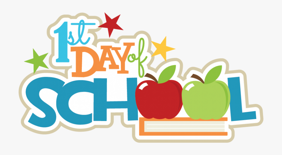 First Day Of School August 4, 2017 Graphic.