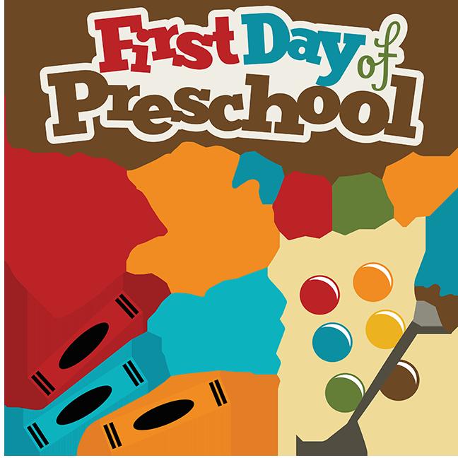 First Day Of Preschool SVG school svg files crayon svg file.