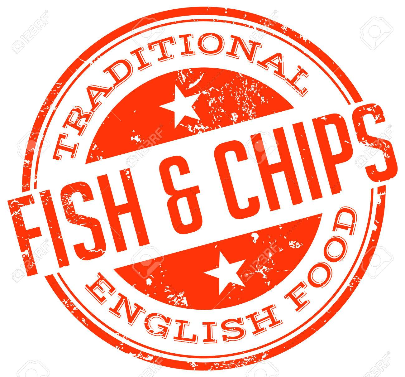 fish and chips stamp.