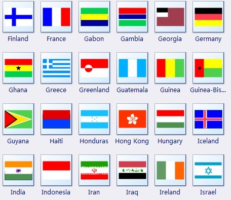 Free clipart world flags.