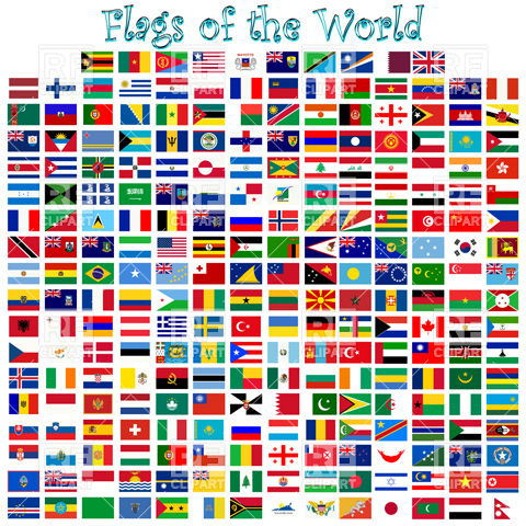 Flags of the countries of the world Vector Image #9696.