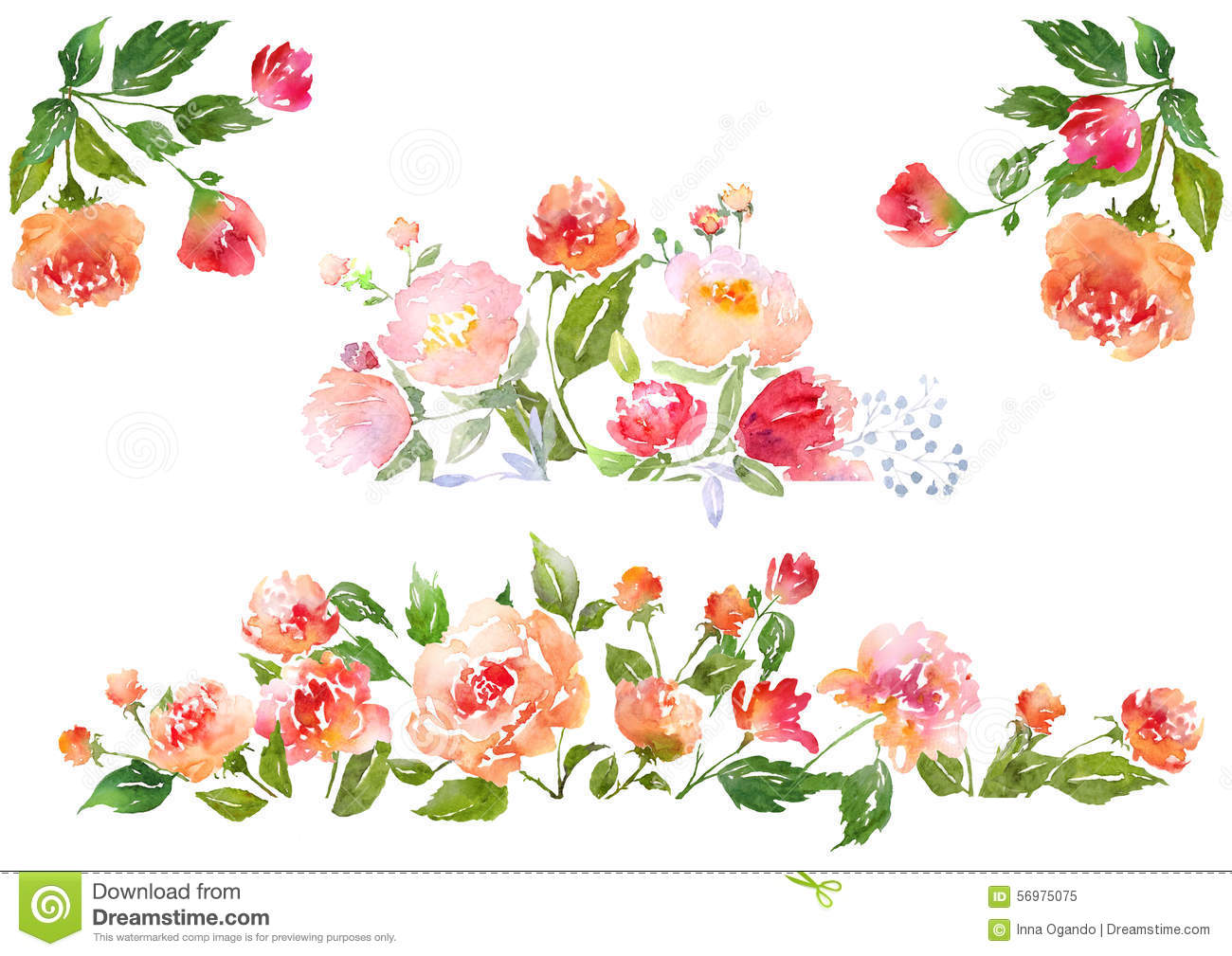 Free Watercolor Floral Clipart.