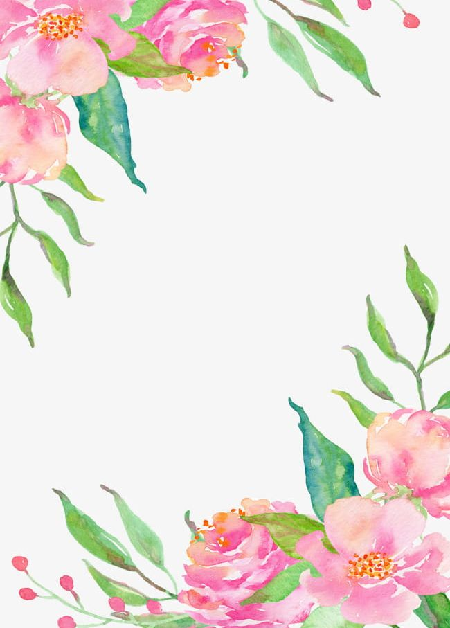 Pink Flower Borders PNG, Clipart, Borders Clipart.