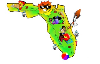 Free! Florida Map ClipArt by PrepToon.