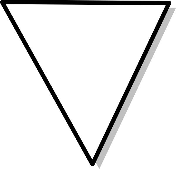Flowchart Symbol Triangle clip art Free vector in Open office.