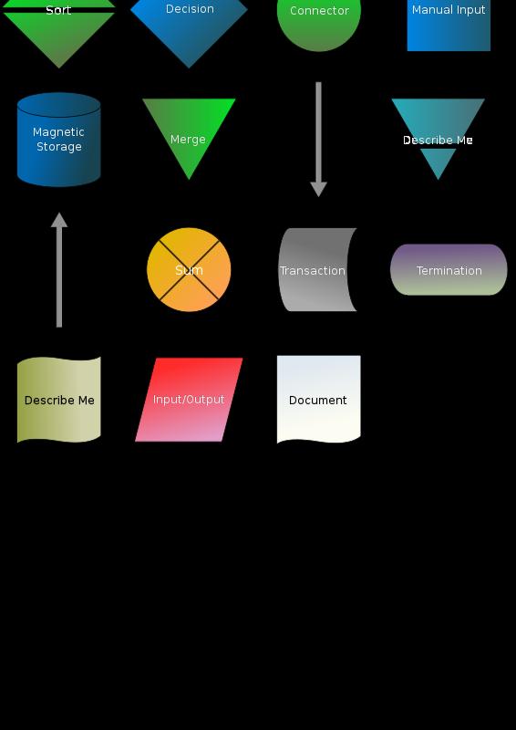 Free Clipart: Flowchart symbols.
