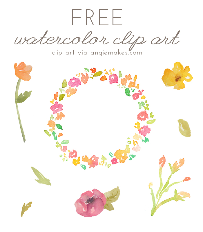Download Free png Angie Makes Free Watercolor Flower ClipArt.