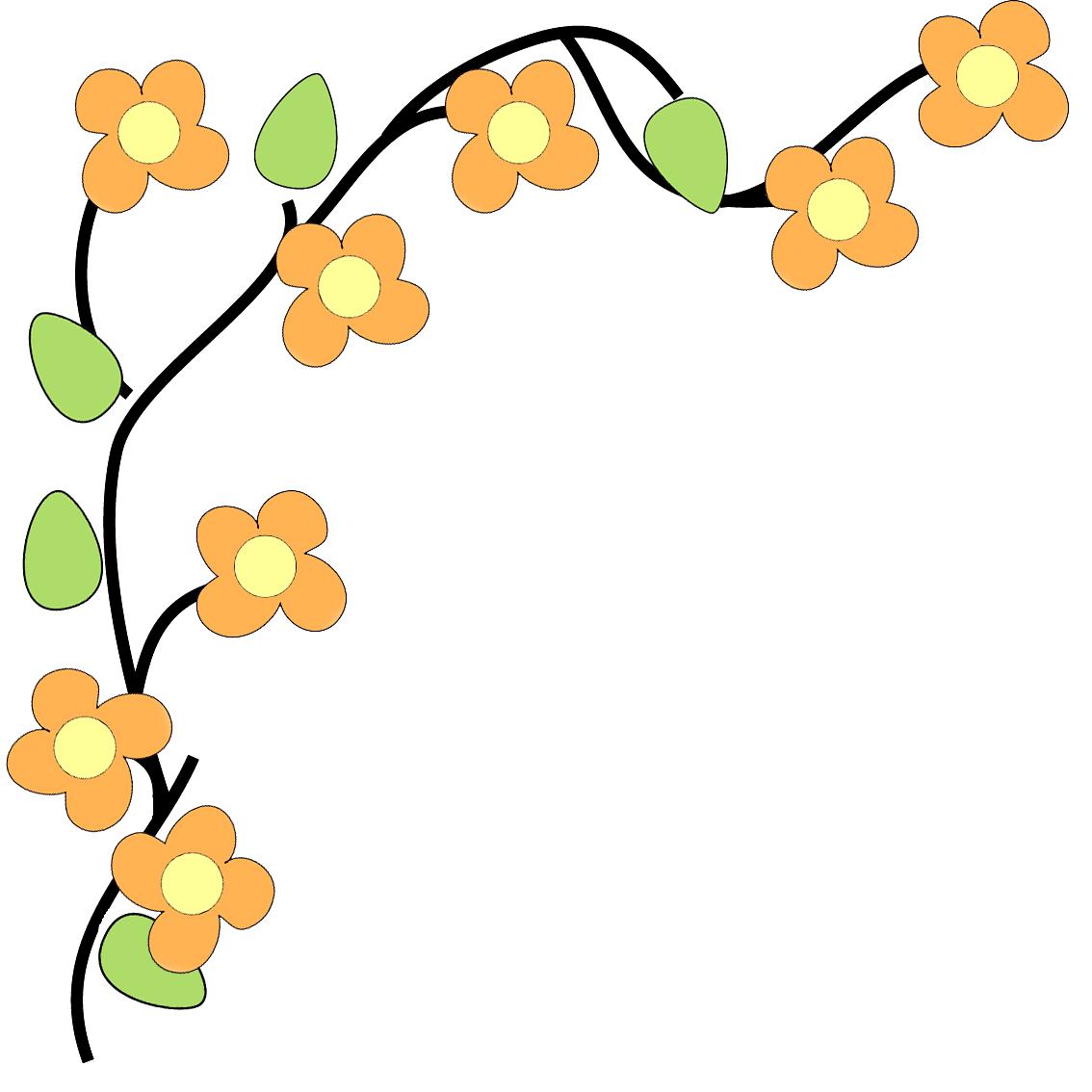 Flower border flower corner border clip art free clipart.