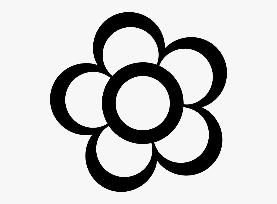 Pix For Clipart Flower Outline.