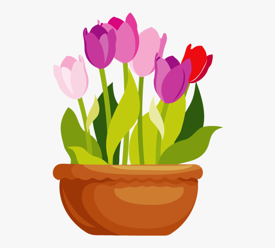 Flower In A Pot Clipart.