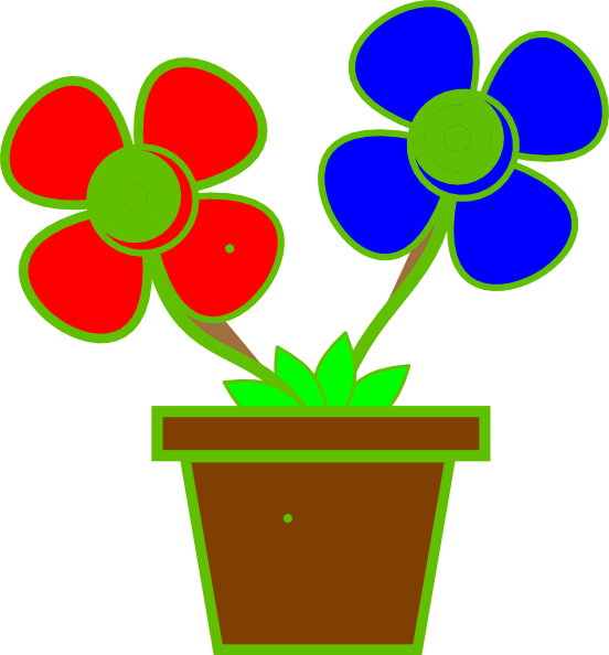 Flowers In A Vase 2 clip art.