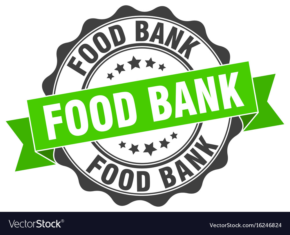 Food bank stamp sign seal.
