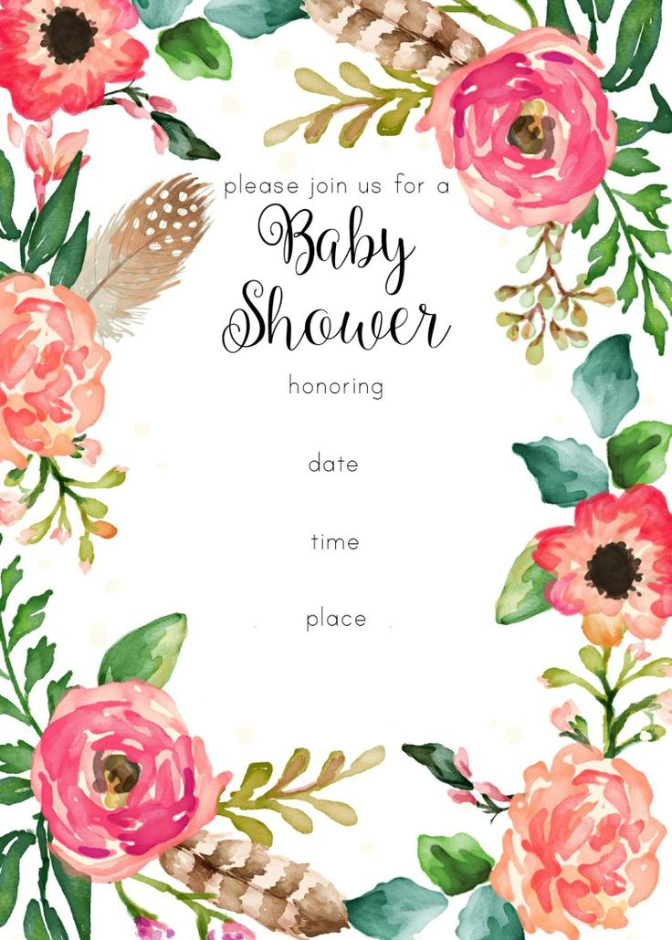 Free clipart for baby shower invitations clipground free printable floral shower invitation filmwisefo
