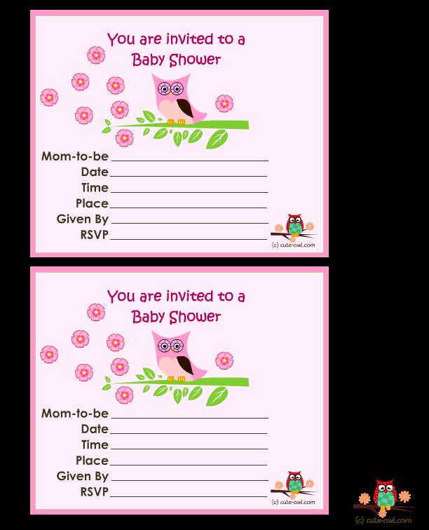 11 Free printable Owl Baby Shower Invitations.