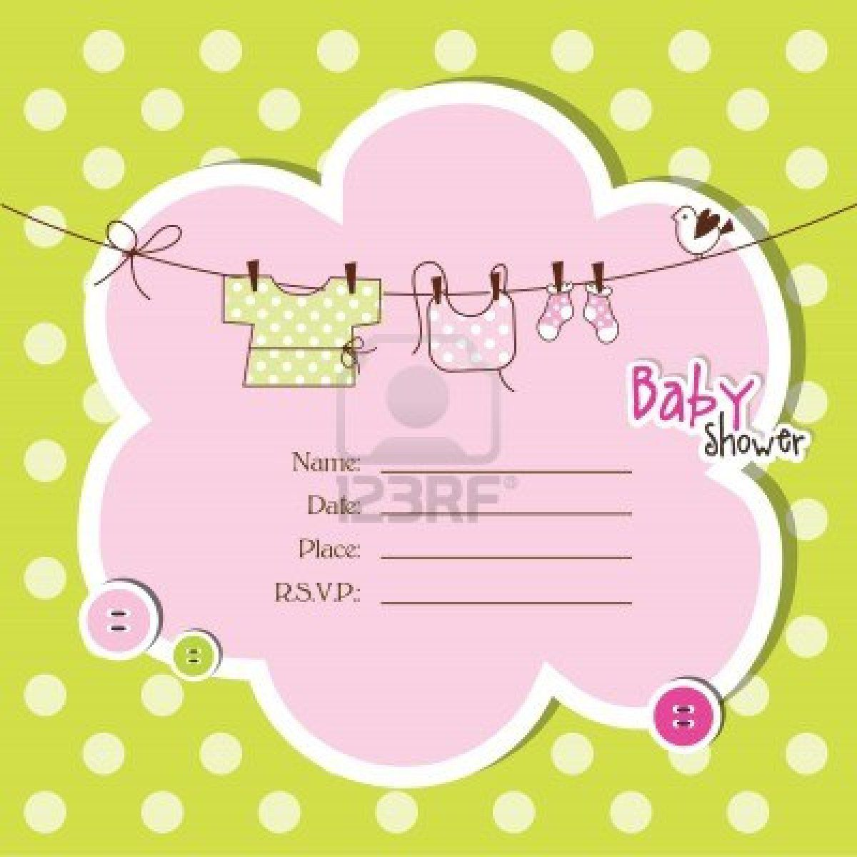 Color : Baby Shower Invitations Free.