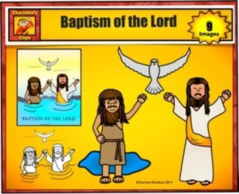 Free Baptism of the Lord Clip Art for Personal Use from Charlotte's Clips.