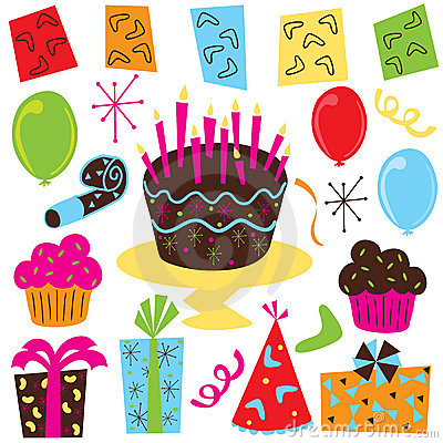 Free Clipart For Birthdays Celebration.