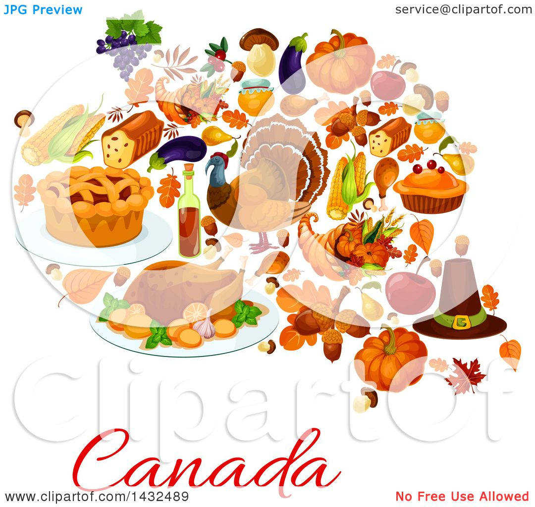 Clipart of a Canadian Thanksgiving Design.
