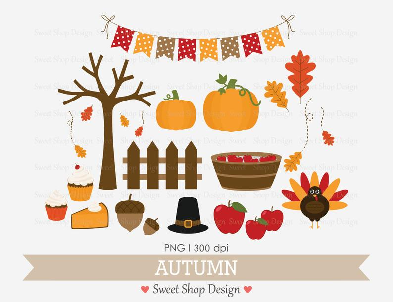 Autumn Clip Art, Fall Clip Art, Thanksgiving Clip Art, Royalty Free Clip  Art, Instant Download.