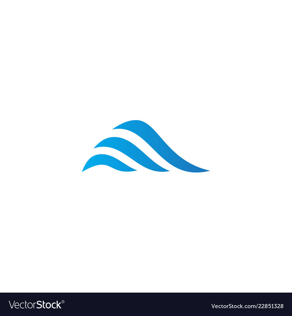 Abstract wave ocean company logo.