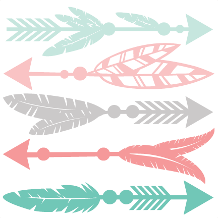 Feather Arrow Set SVG scrapbook cut file cute clipart files for.