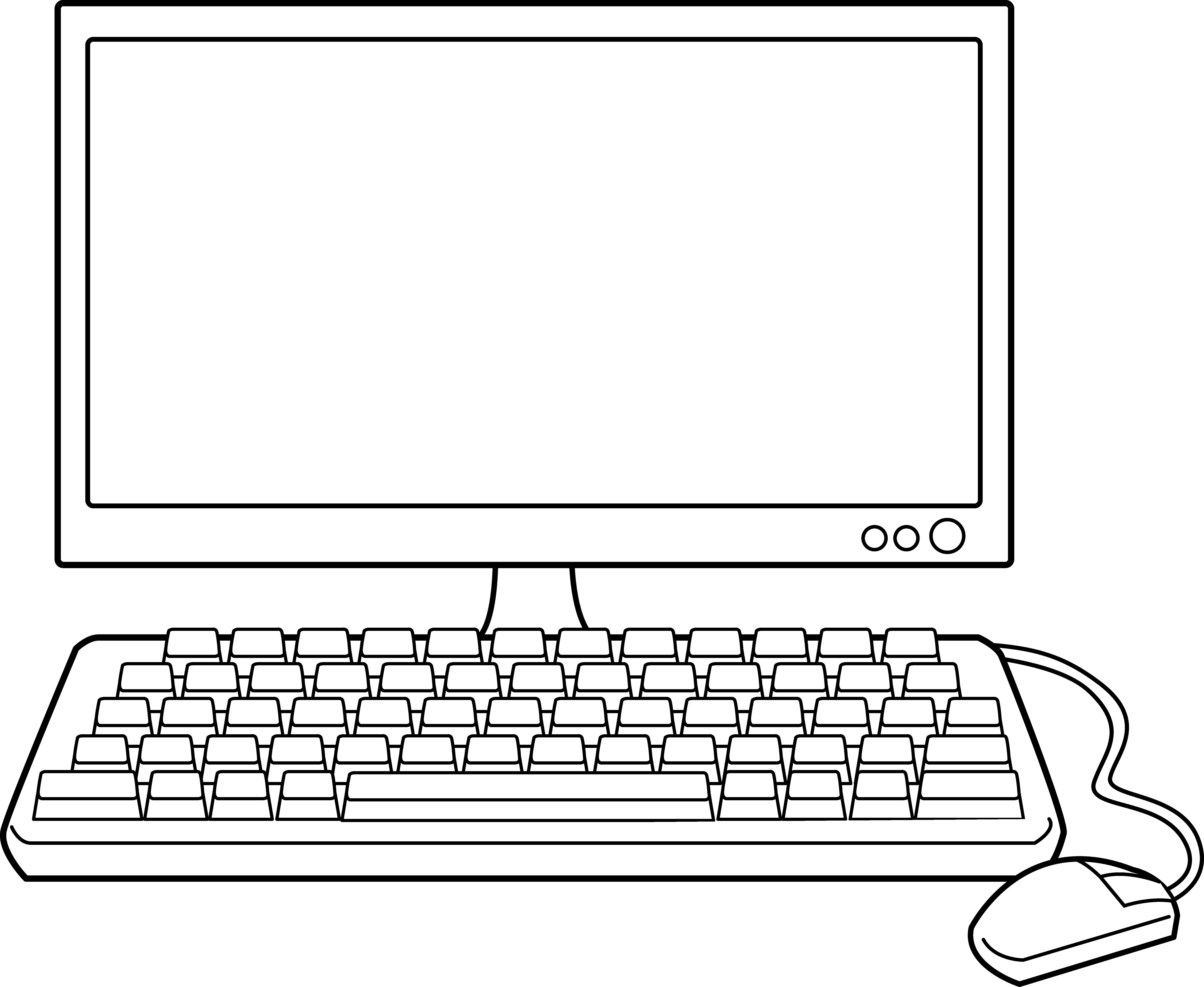 Free Clipart Desktop Computer.